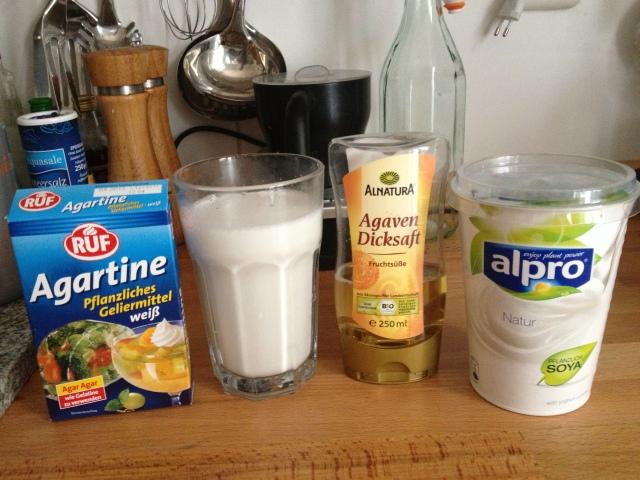 Iogurte vegano de coco