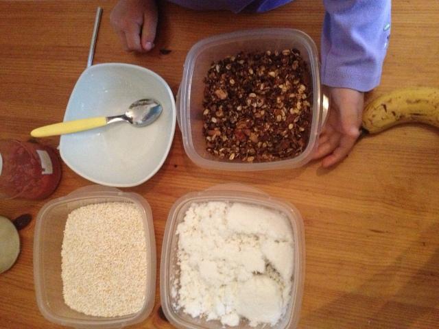 Granola fit, garnola proteica