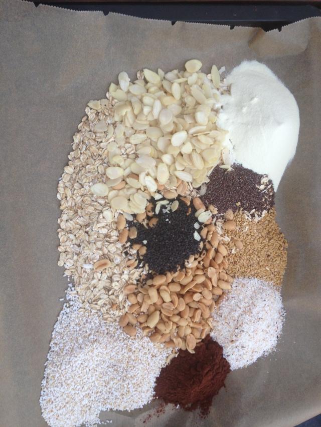 Granola protéica, granola caseira, granola de chocolate