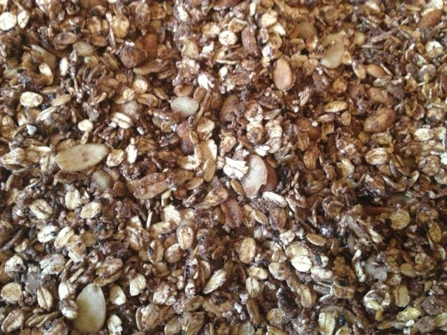 Granola protéica de chocolate