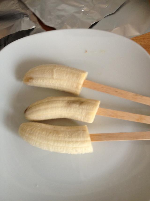 Picolé protéico de banana
