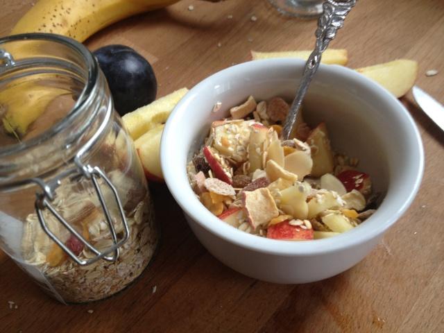 musli, müsli caseiro para café da manha